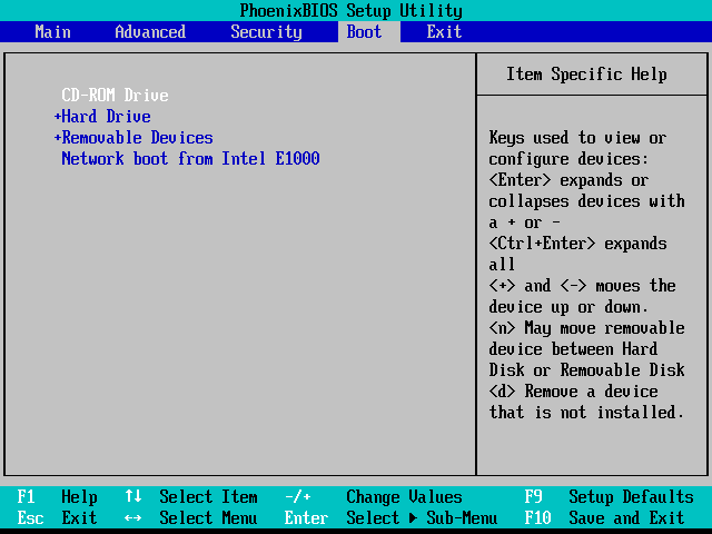 BIOS boot CD