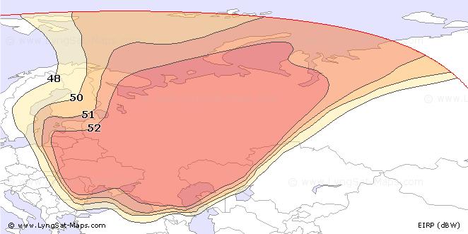 Карта сильных транспондеров Триколора ТВ.